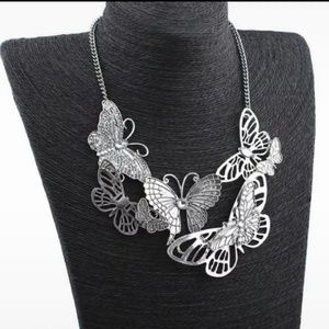 Vintage Romantic Butterfly Statement Necklace